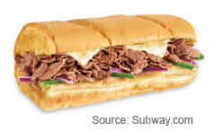 Subway Steak and Cheese Sub
