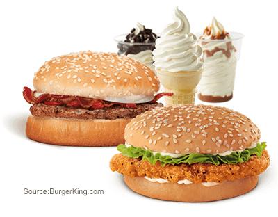 Burger King dollar menu