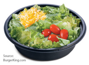 Meet The Burger King Value Menu | Garden Side Salad | Fast Food Menu Prices