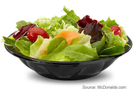 8 McDonald's Healthy Choices | Side Salad | FastFoodMenuPrices.com