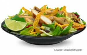 3 Healthy McDonalds Choices | Premium Southwest Salad with Grilled Chicken | Fast Food Menu Prices.com