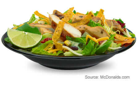 8 McDonald's Healthy Choices | Southwest Grilled Chicken Salad | FastFoodMenuPrices.com