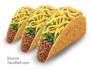 3 Crunchy Tacos