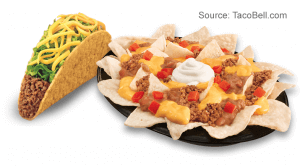 Nachos Supreme and 1 Crunchy Taco