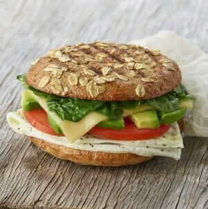 Where to Get the Best Fast Food Breakfast | Panera Avacado, Egg White, and Spinach Breakfast Sandwich | FastFoodMenuPrices.com