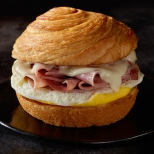 Where to Get the Best Fast Food Breakfast | Starbucks Slow-Roasted Ham & Swiss Breakfast Sandwich | FastFoodMenuPrices.com