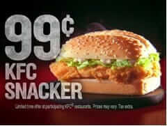 Which Fast Food Chain Gives You the Most Bang for Your Buck | KFC Snacker | Fast Food Menu Prices.com