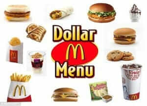 McDonald's Dollar menu