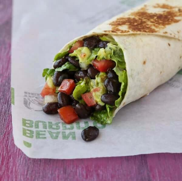 Where to Get the Best Vegan Fast Food Items | Veggie Power Burrito | FastFoodMenuPrices.com