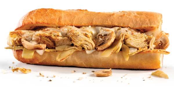 Choosing the Healthiest Food at the Penn Station Menu   Grilled Artichoke Sandwich   FastFoodMenuPrices.com