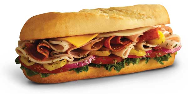 Choosing the Healthiest Food at the Penn Station Menu | Small Dagwood Sandwich or Wrap | FastFoodMenuPrices.com