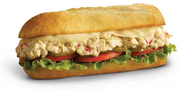 Choosing the Healthiest Food at the Penn Station Menu | Tuna Salad Sandwich | FastFoodMenuPrices.com