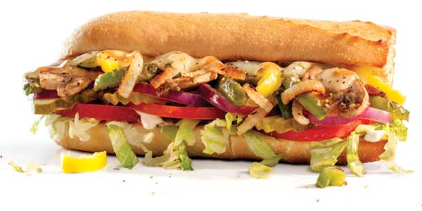 Choosing the Healthiest Food at the Penn Station Menu | Grilled Veggie | FastFoodMenuPrices.com