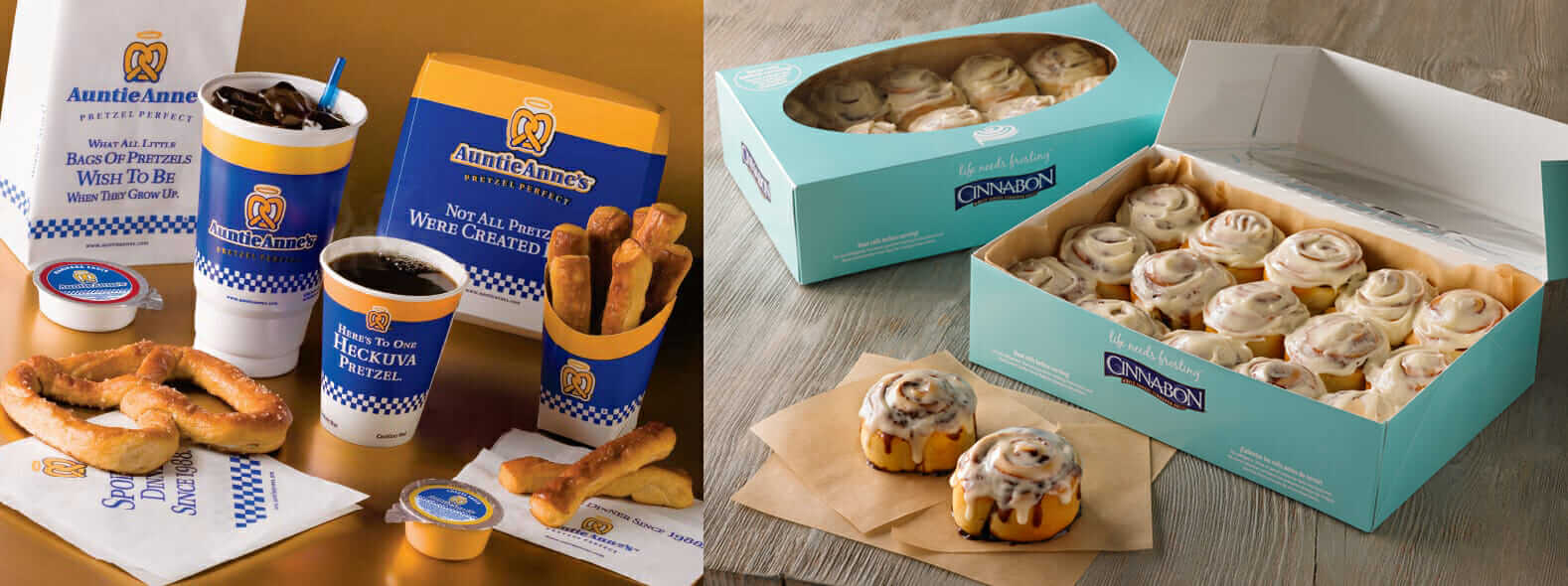 No Truce Between Cinnabon And Auntie Anne S Fast Food