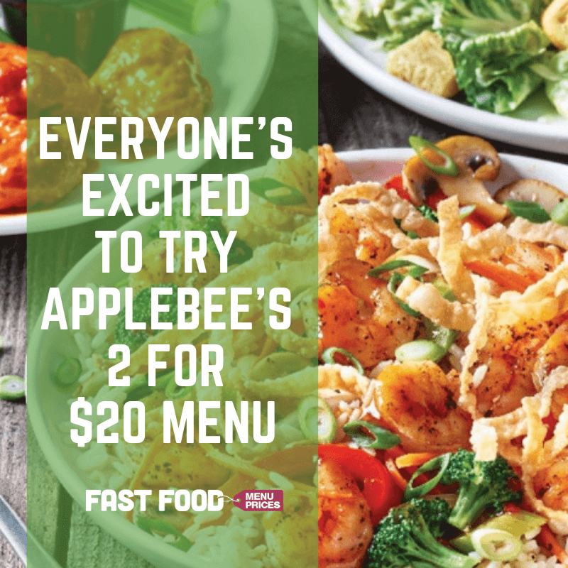 picture regarding Applebees Printable Menus named Everyones Enthusiastic in direction of Check out Applebees 2 for $20 Menu