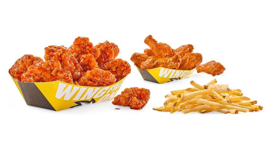 Best Fast Food Meals for the Whole Family | Traditional & Boneless Combo - Buffalo Wild Wings | FastFoodMenuPrices.com