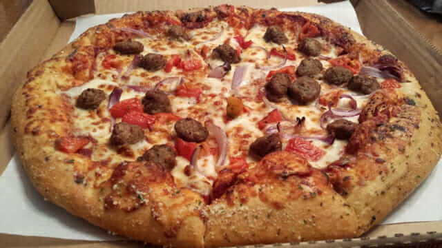 Old Fashioned Meatbrawl Pan Pizza