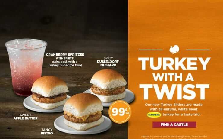 whitecastle turkey sliders