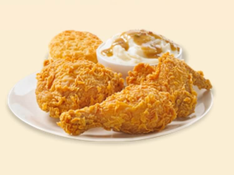 Best Bang for the Buck: Fast Food Fried Chicken | 3-Piece Bonafide Combo - Popeyes | FastFoodMenuPrices.com