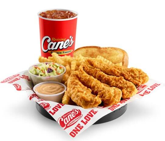 Best Bang for the Buck: Fast Food Fried Chicken | The Box Combo - Raising Cane's | FastFoodMenuPrices.com