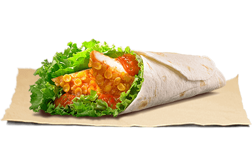 15 Cheap Fast Food Options | Crispy Chicken Wrap | FastFoodMenuPrices.com