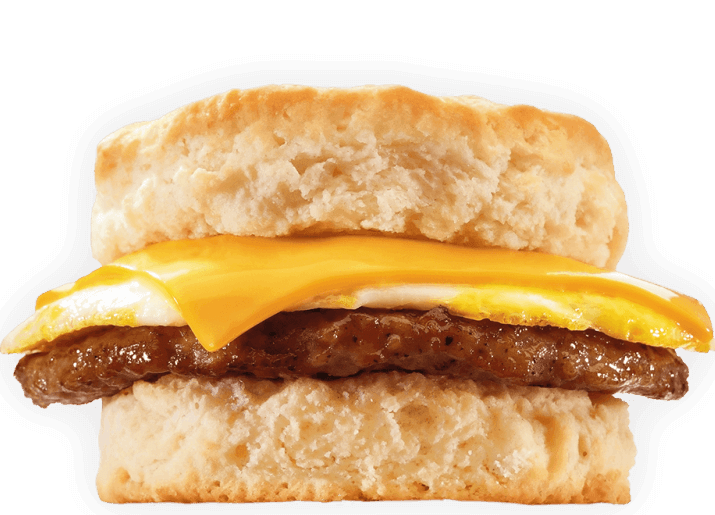 15 Meals At Jack In The Box For 500 Calories Or Less | Sausage Biscuit | FastFoodMenuPrices.com