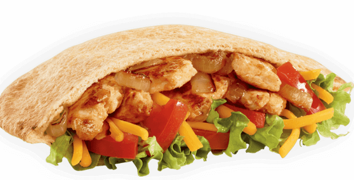 15 Meals At Jack In The Box For 500 Calories Or Less | Chicken Fajita Pita | FastFoodMenuPrices.com