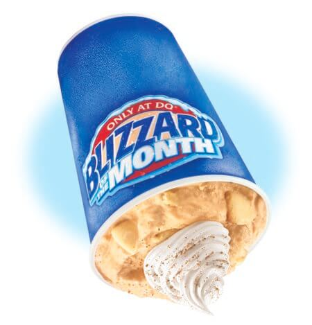 9 Binge-Worthy Fast Food Sweets For The Fall | Pumpkin Pie Blizzard | FastFoodMenuPrices.com