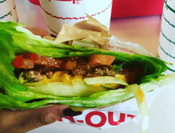in and out burger gluten free options
