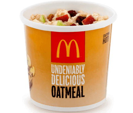 8 McDonald's Healthy Choices | Oatmeal | FastFoodMenuPrices.com