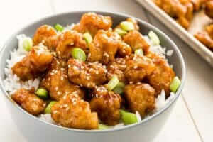 Orange Chicken Fried Rice Bowl