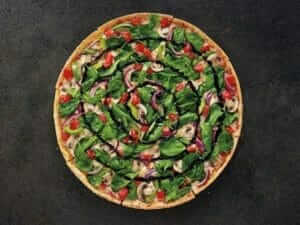 12 Healthy Fast Food Options | Pizza Hut Garden Party Thin Crust Pizza | Fast Food Menu Prices.com