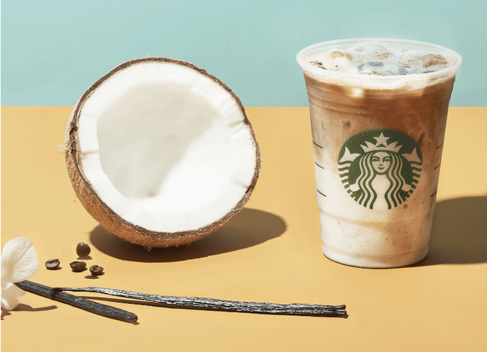 What's New at Starbucks in 2018? | Iced Vanilla Bean Coconut Milk Latte | FastFoodMenuPrices.com