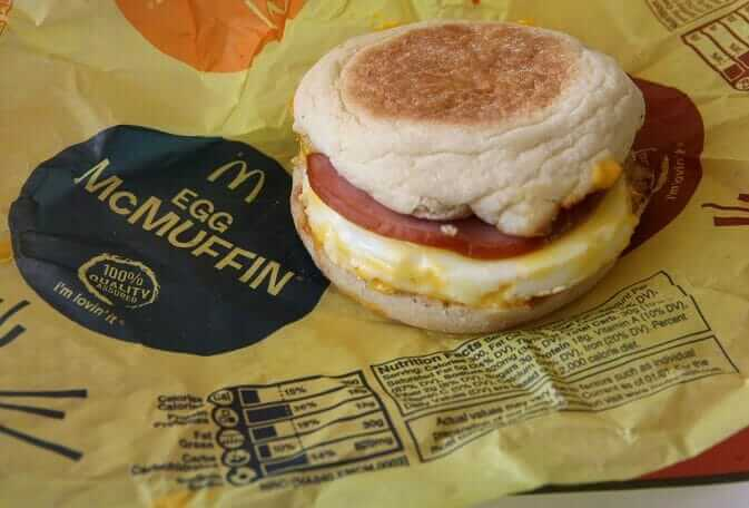 Top 11 Low-Calorie Fast Food Options | McDonald's Egg McMuffin | FastFoodMenuPrices.com