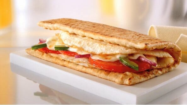 Healthiest Fast Food Breakfast Items | Egg and Cheese Sandwich | FastFoodMenuPrices.com