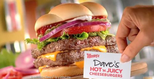 14 of the Best Fast Food Burgers | Wendy's Dave's Hot n' Juicy Double | FastFoodMenuPrices.com