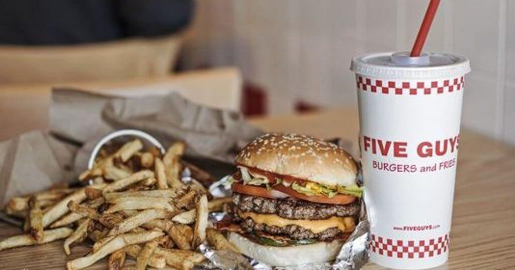 Best Fast Food in Each State | Five Guys Hamburger | FastFoodMenuPrices.com