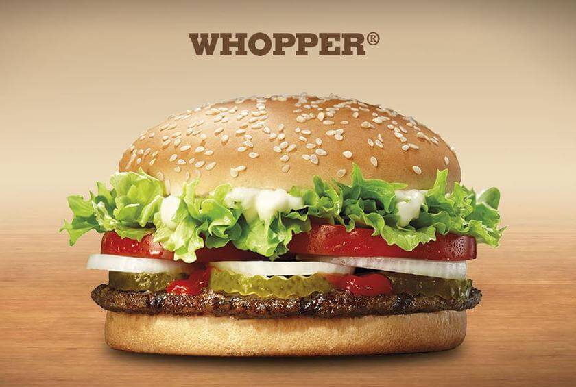 14 of the Best Fast Food Burgers | Burger King Whopper | FastFoodMenuPrices.com