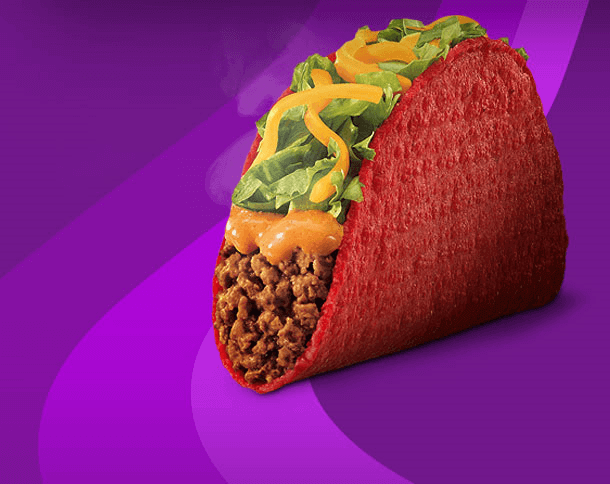 Best Fast Food Tacos | Taco Bell Volcano Taco | FastFoodMenuPrices.com
