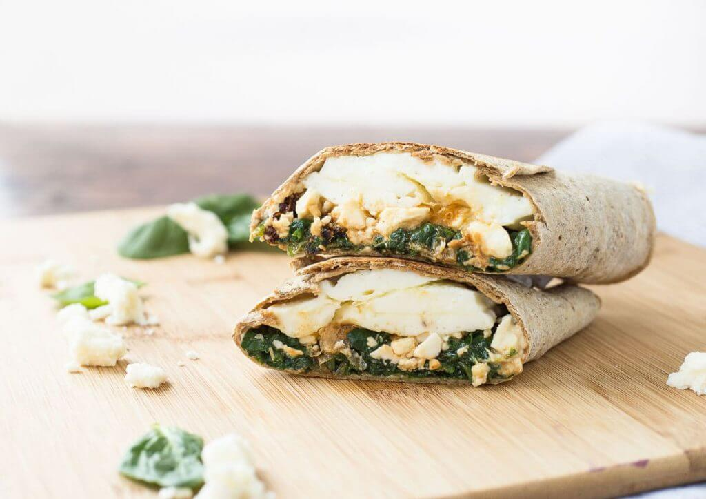 The Healthiest Options at Starbucks | Spinach, Feta & Cage-Free Egg White Breakfast Wrap | FastFoodMenuPrices.com