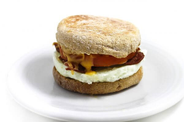The Healthiest Options at Starbucks | Reduced-Fat Turkey Bacon & Cage-Free Egg White Breakfast Sandwich | FastFoodMenuPrices.com