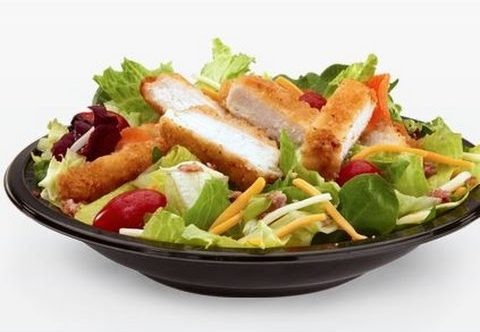 8 McDonald's Healthy Choices | Bacon Ranch Grilled Chicken Salad | FastFoodMenuPrices.com
