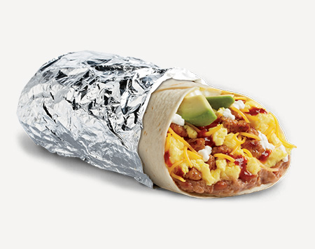 Best Fast Food Breakfast Choices | Huevos Rancheros Epic Burrito | FastFoodMenuPrices.com