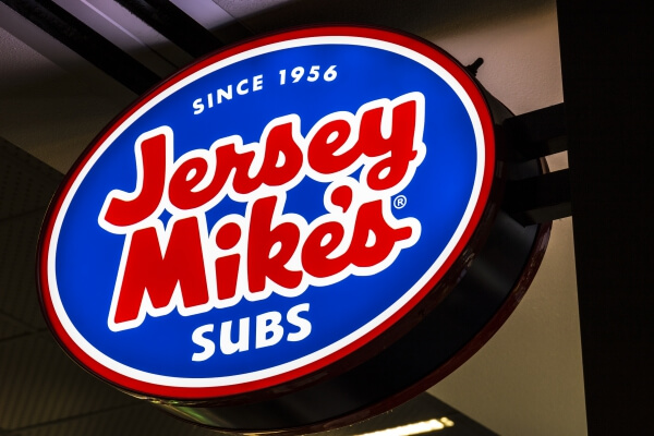 22 Restaurants Where You Can Score Free Fast Food | Jersey Mikes | FastFoodMenuPrices.com