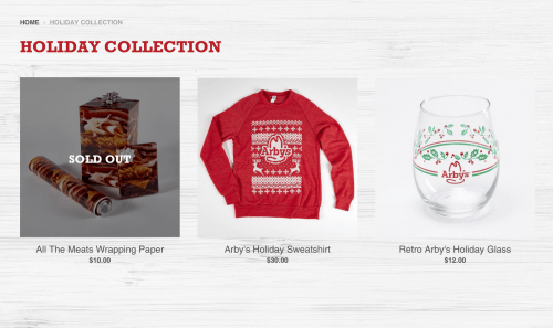 Arby's Holiday Collection