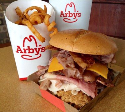 Arby's Secret Menu Meat Mountain Sandwich