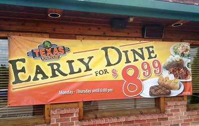 Texas Roadhouse Early Dine for $8.99