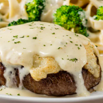 Olive Garden Introduces New Gorgonzola Topped Sirloin And New Parmesan Alfredo Crusted Sirloin