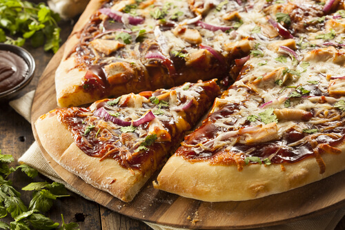 CPK BBQ Chicken Pizza
