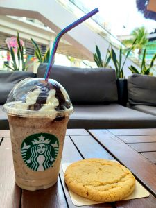 Starbucks Twix Frappuccino with a Cookie